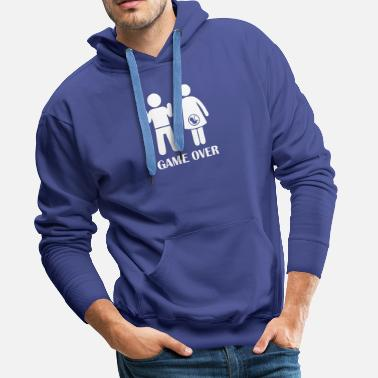 Game Over GAME OVER Pregnant - Men's Premium Hoodie