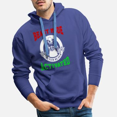 Biest Beast Mode Activated 2 Bodybuilder Fitness Gym - Men's Premium Hoodie