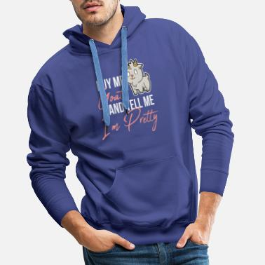 Goats domestic goat willow goat goat gift - Men's Premium Hoodie