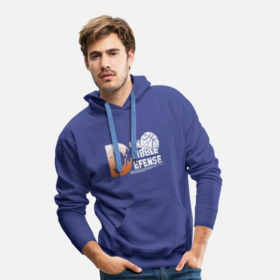 Panier Sweat-shirts - Athlète Slamdunk de Rebond de sport de basket-ball - Sweat à capuche premium Homme bleu royal