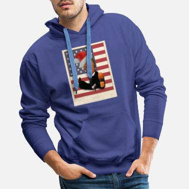 funny Little Donald Trump USA FLAG christmas - Men's Premium Hoodie