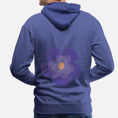 Animal Collection Flower Violet Iris - Men's Premium Hoodie