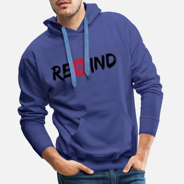 Key Button rewind circle music button ring button play p - Men's Premium Hoodie