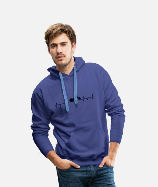 Heart Rate Hoodies & Sweatshirts - Motorcycle choppers - Men's Premium Hoodie royal blue