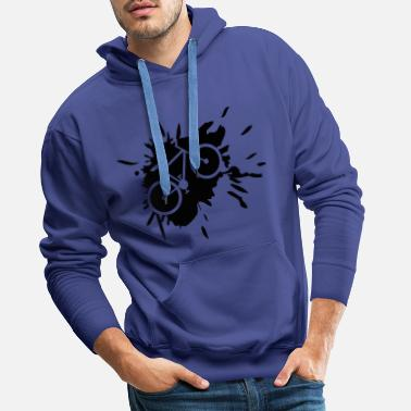 Soul kelcks bike color drops splashes graffiti fah - Men's Premium Hoodie