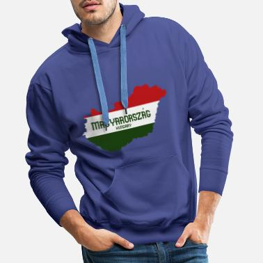 Weather Hungary map & flag - Men's Premium Hoodie