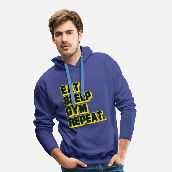 Training Hoodies & Sweatshirts - Strength training - Men's Premium Hoodie royal blue