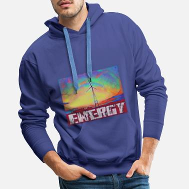 Wind Turbine Energy - Men's Premium Hoodie