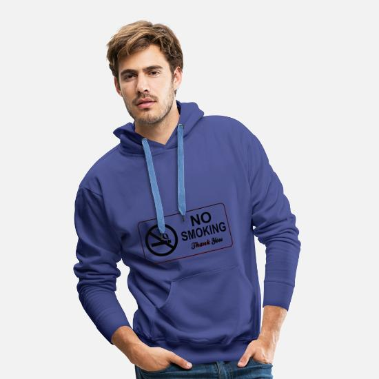 Smoking Ban Hoodies & Sweatshirts - no smoking - Men's Premium Hoodie royal blue