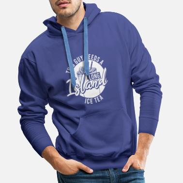 Island Long Island Ice Tea Drink Alcohol Cocktail - Men's Premium Hoodie