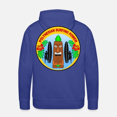 Polynesian polynesian surfing power - Men's Premium Hoodie