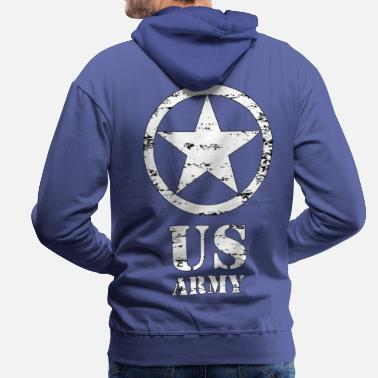 Us united states army star 02 - Sweat à capuche premium Homme