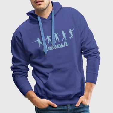 Tennis Forehand Stages - Men's Premium Hoodie