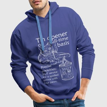 Can opener - english (white) - Men's Premium Hoodie