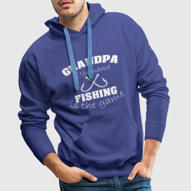 OPA GRANDPA FISHING FISHERMAN GRANDPA FISHING - Men's Premium Hoodie