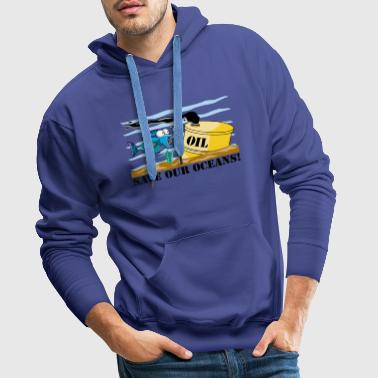 Earth Day Save Our Oceans - Men's Premium Hoodie