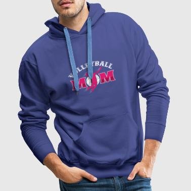 Volleyball Mother Dredging Ace Flatbed Game Mom - Men's Premium Hoodie