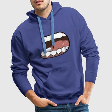 Hunger, mouth, mouth - Men's Premium Hoodie