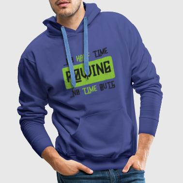 Rowing rower sports competition club gift - Men's Premium Hoodie
