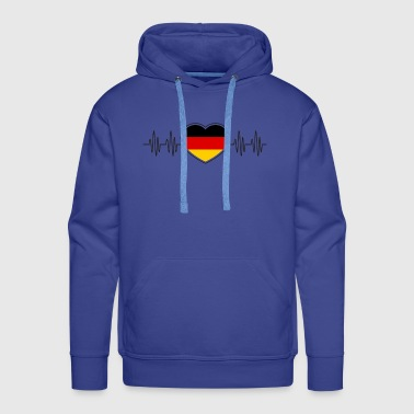 Germany football heart country gift home pulse - Men's Premium Hoodie