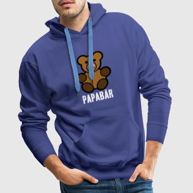 Papabär Father's Day Idea regalo Orso animale - Felpa con cappuccio premium da uomo