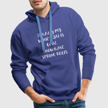 Winter Fat Spring Rools funny sayings gifts - Men's Premium Hoodie