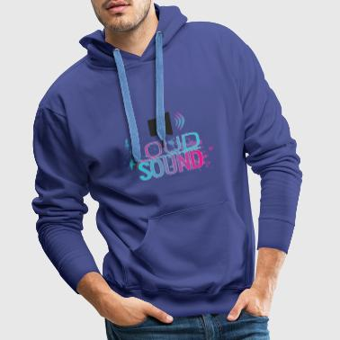 Laute Musik / Loud Sound Small Speaker Black - Männer Premium Hoodie