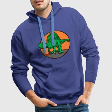 Spinosaurus vintage vert orange - Sweat-shirt à capuche Premium pour hommes