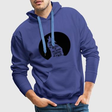 leading the pack of wolves - Men's Premium Hoodie