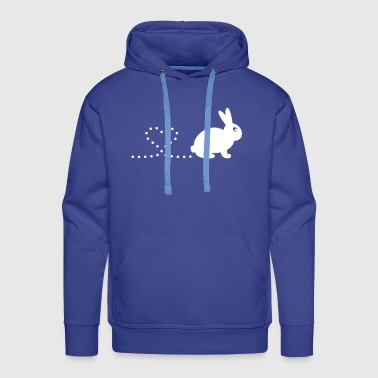 Pooping Heart Rabbit - Men's Premium Hoodie