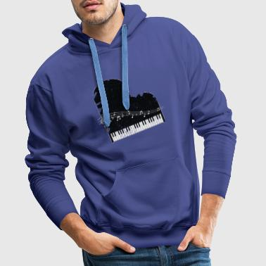 Piano cadeau Piano musicus vleugels Keyboard - Mannen Premium hoodie
