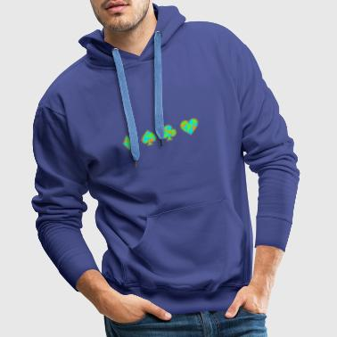 Jeu de cartes Neon Skat Poker Gift Player Heart - Sweat-shirt à capuche Premium pour hommes
