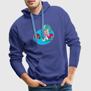 Comic american football player, gift idea - Men's Premium Hoodie