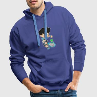 Tennis player fun ball bat gift idea - Men's Premium Hoodie