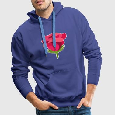Rose Design Illustration Macro cadeau idee - Mannen Premium hoodie