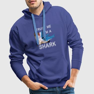 Trust Me I'm A Shark Grappige Cat In Costume Graphic - Mannen Premium hoodie