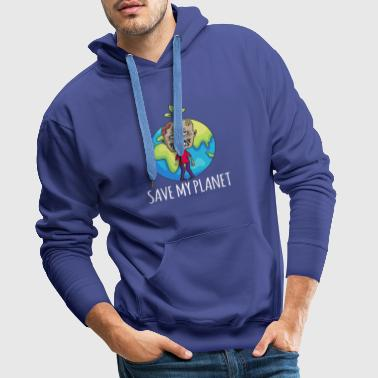 Zombie Earth Day Gift Environment - Men's Premium Hoodie