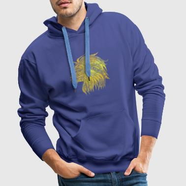 Lion Cat Gift Noble King Meow Power - Men's Premium Hoodie
