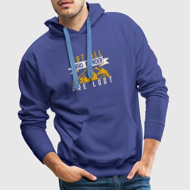 not all who are hiking T-shirt with mountains - Men's Premium Hoodie