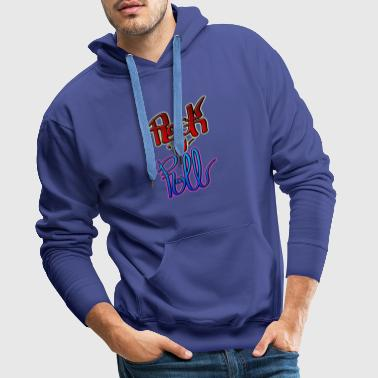 Rock and Roll Punk Rock - Sweat-shirt à capuche Premium pour hommes