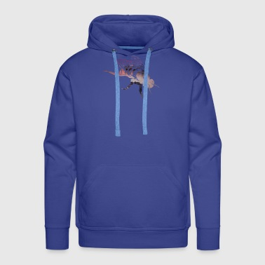 Bee Bee Double Illuminated nature and animal - Men's Premium Hoodie