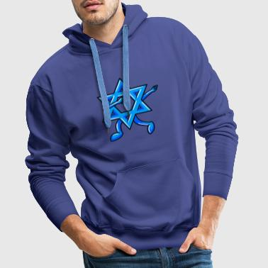Dabbing Star Of David Jewish Funny Hanukkah - Men's Premium Hoodie