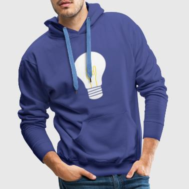 yellow rock bulb - Men's Premium Hoodie