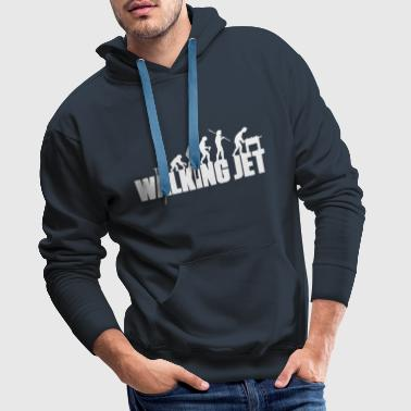 the walking jet - Männer Premium Hoodie