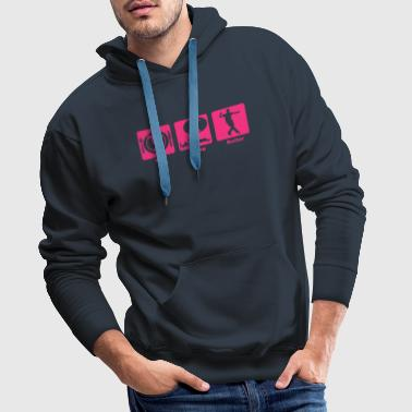 roller eat sleep play - Sweat-shirt à capuche Premium pour hommes