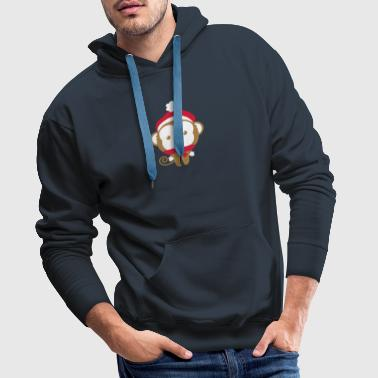 monkey_christmas_2 - Sweat-shirt à capuche Premium pour hommes
