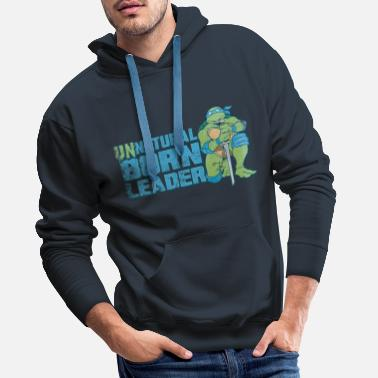 TMNT Turtles Leonardo Unnatural Born Leader - Men's Premium Hoodie
