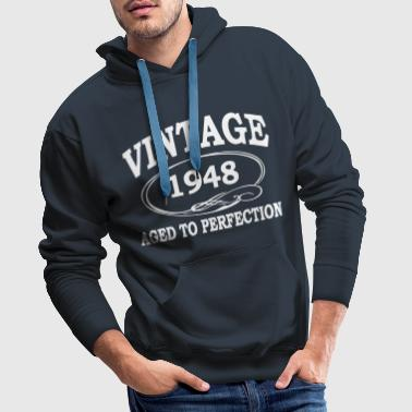 Vintage 1948 Aged To Perfection - Men's Premium Hoodie
