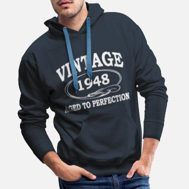 1948 Vintage 1948 Aged To Perfection - Men's Premium Hoodie