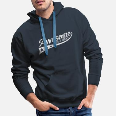 Birth Awesome Since 2000 - 19th Birthday Gift - Men's Premium Hoodie